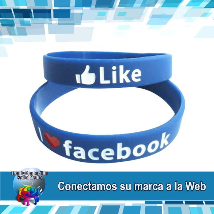 facebook-pulsera-de-silicona-pulseras-de-goma